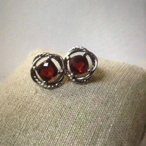 DY Garnet Earrings